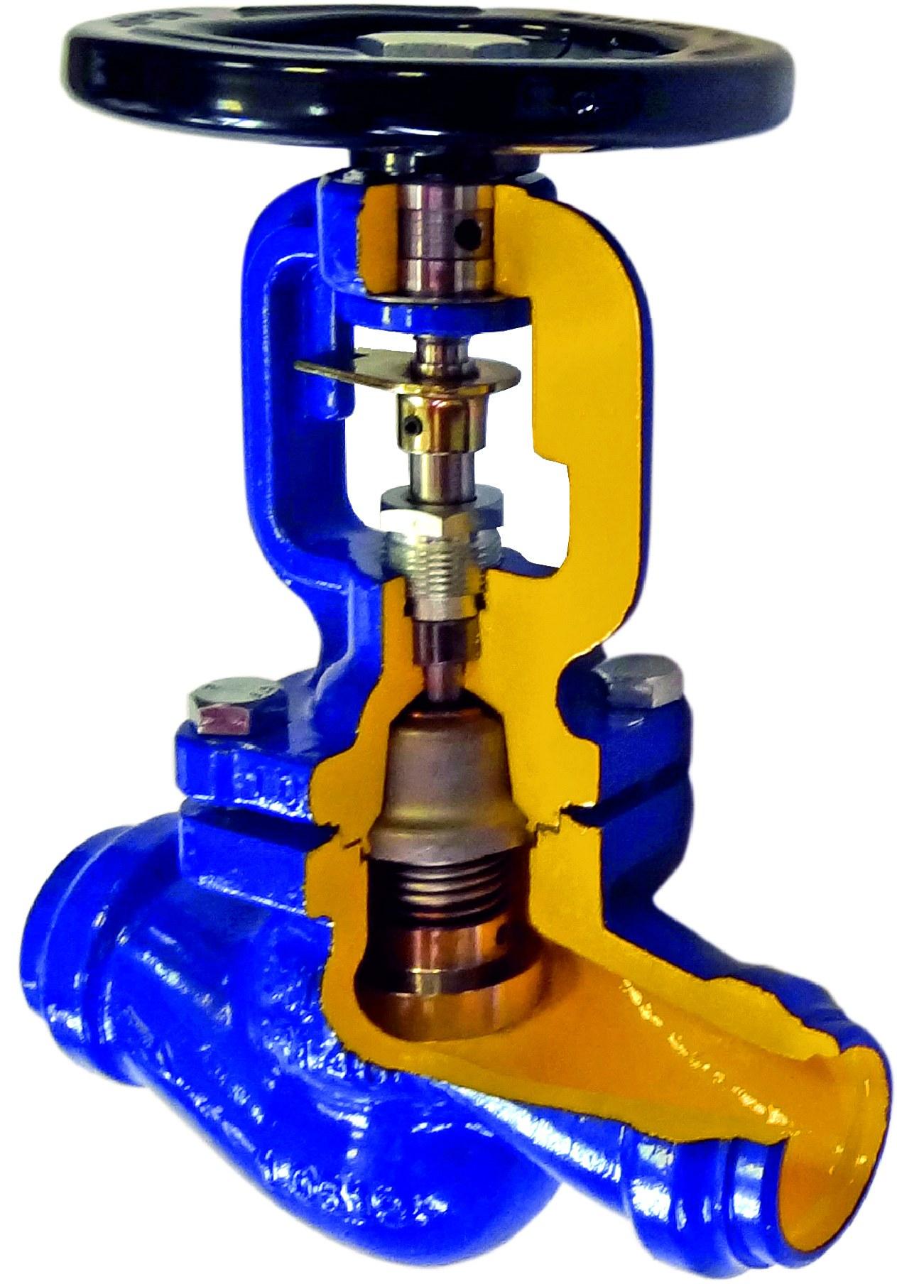 Клапан 3-х ходовой с сильфонным уплотнением по штоку, Kv=4